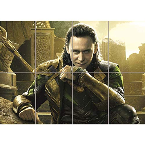 Doppelganger33 LTD Tom Hiddleston Thor Loki Movie Film Home Decor Wand Kunst Multi Panel Poster drucken 47x33 Zoll