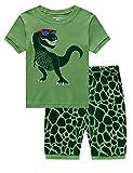 Pijama corto para niño, verano, dos piezas, algodón, diseño de dinosaurio, excavadora, moto, avión, pijama corto, 92, 98, 104, 110, 116, 122 Dinosaurios XXXL