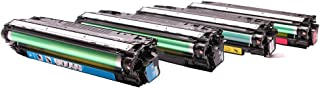 EliveBuyIND® Set of 4 Colors Value Pack New Compatible Toner for Hewlett Packard CE340A, CE341A, CE342A, CE343A, HP 651A, for Color LJ M775dn, M775f, MFP M775dn, Enterprise700 MFP M775F, M775Z