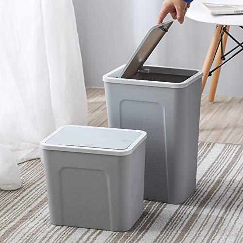 Xcwsmdq Mülleimer Nordic Pressed Trash Can Kreative Große Wohnzimmer Badezimmer Müll Enge Abfalleimer Multifunktionshaushalts Buckets Covered Reinigungsmittel (Color : White S)