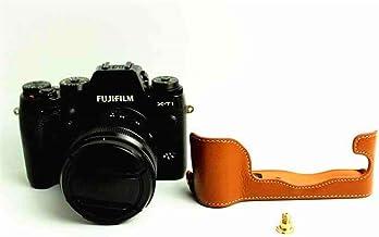 Black G1 X Mark III Case Hand Strap BolinUS Handmade Genuine Real Leather Half Camera Case Bag Cover for Canon PowerShot G1 X Mark III Camera Bottom Opening Version