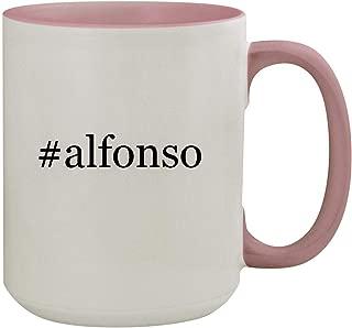 #alfonso - 15oz Hashtag Colored Inner & Handle Ceramic Coffee Mug, Pink