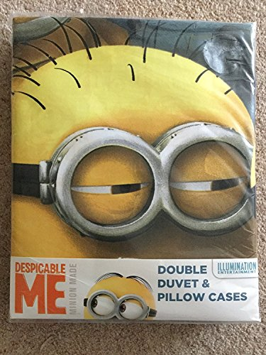 Minion Made Despicable Me – Set Copripiumino, 50% cotone/50% Poliestere, Multicolore, Matrimoniale, 200 x 200 cm