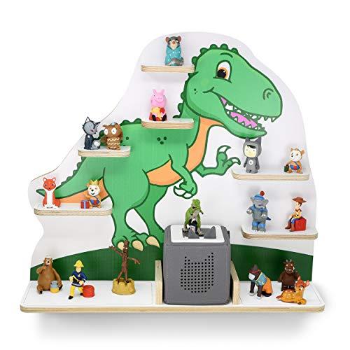 Kinderrek voor muziekbox, motief T-Rex, geschikt voor de geluidsbox en ca. 35 Tonies I Leven & Momenten Grappig I Gift I Geschenkidee Mit breiten Boden