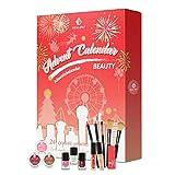 BEAU-PRO Calendrier de l'Avent 2020, Coffret Maquillage, 24 Produits Cosmétiques, Soin de la Peau et Beauté pour Noël, Superbe pour Filles/Femmes/Mères