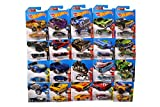 Hot Wheels Plastic Toy Car, 2016 (Multicolour) - Set of 9