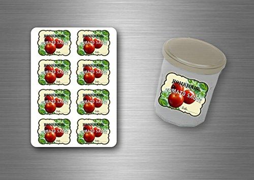 24x sticker labels tomaat pot jam bewaart sap puree saus zelfgemaakte