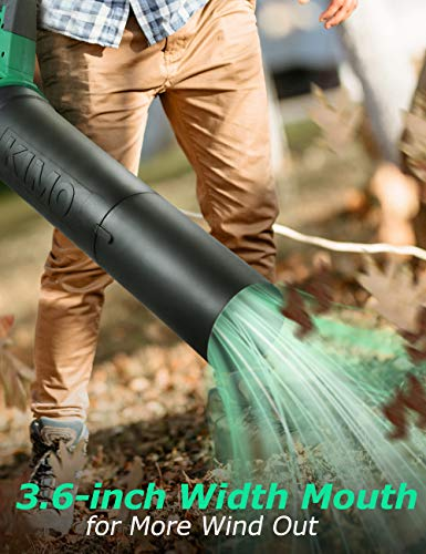 Cordless Leaf Blower - KIMO 400CFM 90MPH Battery-Powered Blower for Blowing Wet Leaves, Snow Debris and Dust, 20V Electric Leaf Blower with Battery and Charger for Garden, Yard, Work Around The House