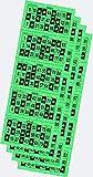 Desconocido 540 Cartones de Bingo troquelados Color Verde