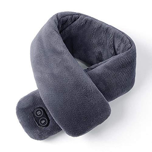 Bufanda con calefacción, bufanda de cuello con calefacción eléctrica, envoltura de cuello con carga USB, polaina de calefacción cálida para mujeres y hombres, pañuelo de masaje con vibración