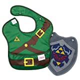 Bumkins Nintendo Zelda SuperBib, Baby Bib, With Cape Waterproof, Washable, Stain and Odor Resistant, 6-24 Months (Pack of 1)