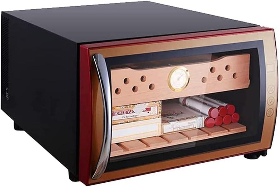 BOXIAO Gabinete De Cigarros, Mini Gabinete De Hidratación De Temperatura Constante De La Casa, Refrigerador Electrónico Pequeño De Vino Refrigerador