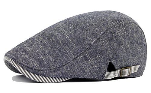 Leisial Sombreros Gorras Boinas Gorra de Béisbol Ocio Retro Clásico del Algodón Gorra de Deport Hat Flat Cap Primavera Verano para Hombre Azul