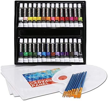 40 Pack Oil Painting Set LEDTEEM Artists Paints Set Contrains 28 Colors Oil Paints Paint Brushes product image