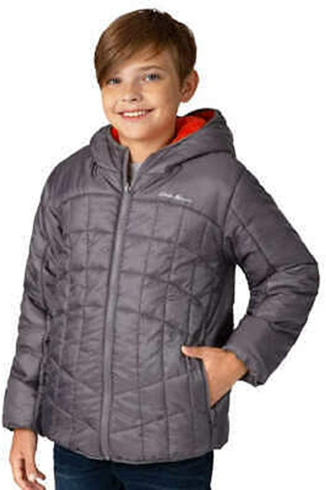 Eddie Bauer Boys Deer Harbor Reversible Hooded Jacket