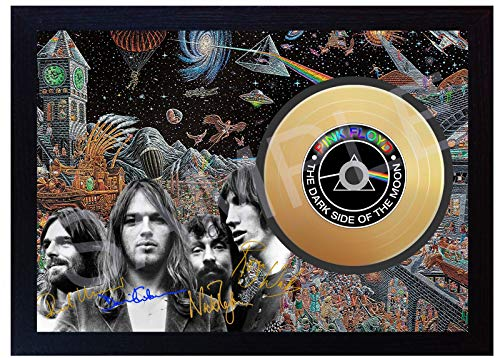 SGH SERVICES Pink Floyd David Gilmour The Dark Side of the Moon Mini-Vinyl-CD, signiert, gerahmt