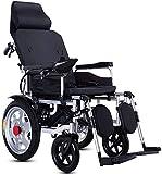 Silla de Ruedas eléctrica Plegable, Sillas de ruedas eléctricas, Silla de ruedas eléctrica compacta auxiliar sillón de ruedas mayor movilidad reducida portátil plegable silla de ruedas eléctrica de do