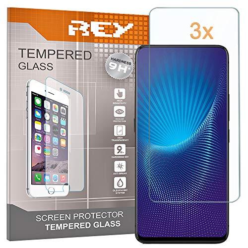 REY [Lot de 3] Verre Trempé pour Vivo NEX - NEX S - NEX A, Protecteur d'écran qualité supérieure