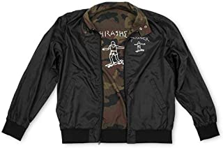 Thrasher Magazine Mark Gonzales Gonz Reversible Coach Windbreaker Jacket - Black/Camo - XL