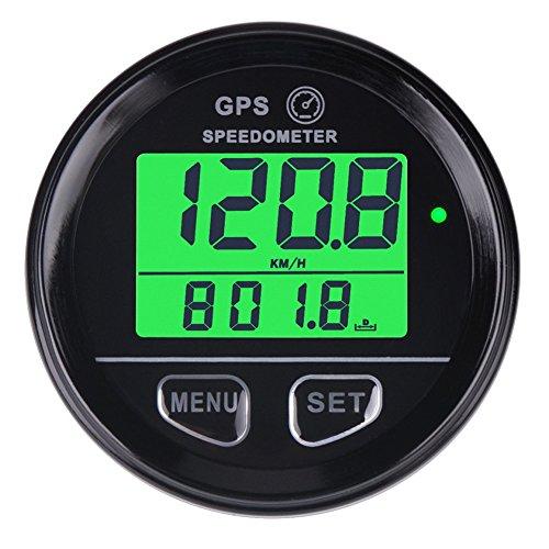 Velocímetro cuentakilómetros GPS digital con retroiluminación de Searon, impermeable, alarma de alta velocidad, compatible con vehículos, motocicletas, quads y UTV