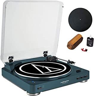 Audio-Technica Fully Automatic Bluetooth Wireless Belt-Drive Turntable LE Navy (AT-LP60NV-BT) + Universal 12