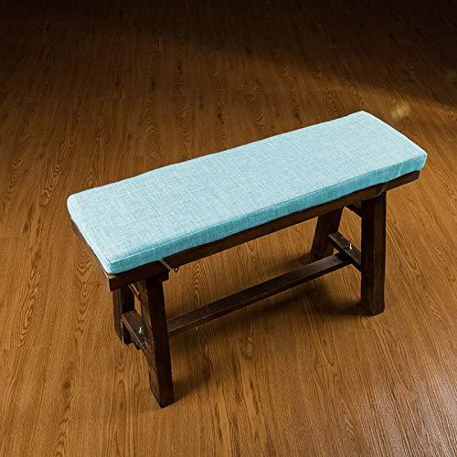 jHuanic - Cuscino lungo per panca da giardino, morbido, per mobili da interni, con laccetti, per sedia da ufficio, 2 o 3 posti (blu, 100 x 40 x 4 cm)