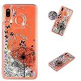 ShinyCase Galaxy A20E Handyschale,Galaxy A20E Flüssig Cover Handyhülle,Silikon Glitzer Transparent...