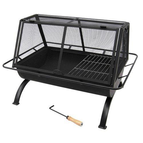 Landmann USA 28305 Northwoods Outdoor Fireplace,Black,Large