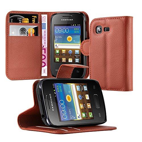 Cadorabo Funda Libro para Samsung Galaxy Pocket 2 en MARRÓN Chocolate - Cubierta Proteccíon con Cierre Magnético, Tarjetero y Función de Suporte - Etui Case Cover Carcasa