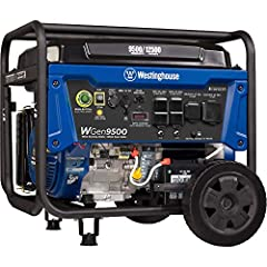 9500 Running Watts and 12500 Peak Watts; Remote Start With Included Key Fob, Electric and Recoil Start; Up to 12 Hours of Run Time on a 6.6 Gallon Fuel Tank With Fuel Gauge Features Two GFCI 120V 5–20R Standard Household Receptacle, One Transfer Swit...