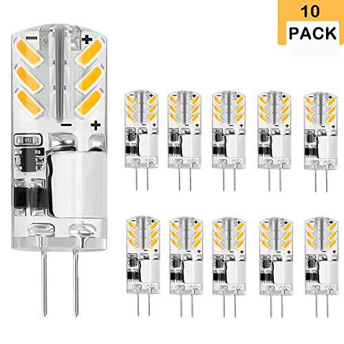 Jpodream® Ampoule LED G4, 3W/300LM, Blanc Chaud 3000K, Equivalence Incandescence 30W, Lampes LED à Economie Dénergie Pour Lustre/Applique Murale, 12V AC/DC-(10 Pack)