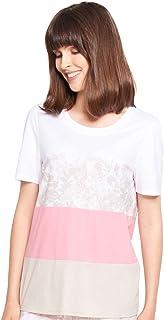 Rösch Pure 1213135-15609 Women's Colourblocking Cotton Pyjama Top
