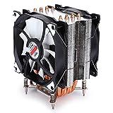 Hyuduo1 Enfriador de CPU, disipador de Calor del Enfriador de Aire de CPU con Ventilador Dual de 90 mm, Ventiladores silenciosos de Tubo de Cobre de 48 CFM 6 para computadora de 775 1150 1366(Blanco)