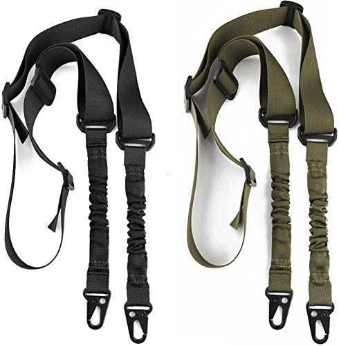 Accmor 2 Point Extra Long Sling, 2 Pack Two Point Traditional Sling with Metal Hook for Outdoor Sports