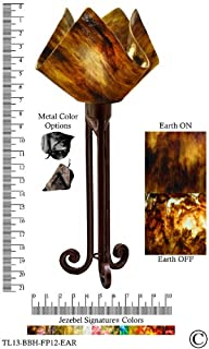 product image for Jezebel Signature Torch Light. Hardware: Brown with Brown Highlights. Glass: Earth, Flame Style