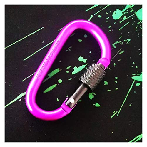 love lamp Mosquetones 1 unids PRÁCTICA 10 Colores D MARABINER DE Aluminio DE Aluminio DE Aluminio MARABINERO Equipo DE SURTILLO Mosqueton (Color : Purple)