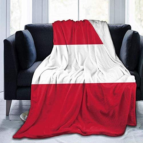 Couverture en Molleton Drapeau de l'Autriche Couvertures de literie légères en Microfibre Lit Super Doux Confortable canapé de Tapis de Yoga Chauds Couvertures L