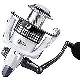 GJJSZ Carretes Carrete de Metal Carrete de Pescado Carrete de Pesca Rueda de Pescado Rueda de besugo Carrete de Pesca rápida de mar Blanco (Color:Blanco,Tamaño:7000)