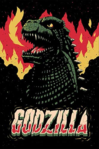 GODZILLA: King of the Monsters - Lined Notebook Journal - 110 Pages - Gojira - Size (6 x 9 inches)