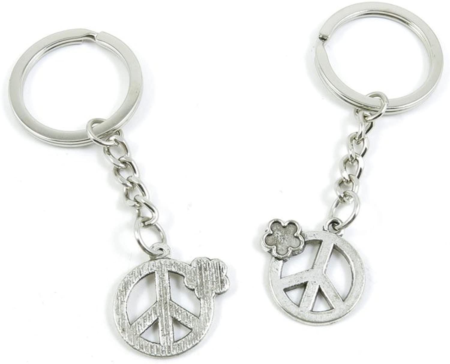 190 Pieces Fashion Jewelry Keyring Keychain Door Car Key Tag Ring Chain Supplier Supply Wholesale Bulk Lots E2AN3 Anti War Signs
