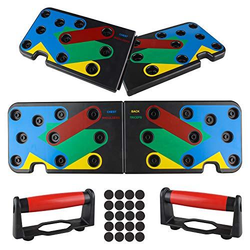 MODKON Push-up-Board, multifunktional, 12-in-1 Fitness-Rack für das Training zu Hause, für Fitness, tragbares Push-Up-Training für Männer und Frauen.