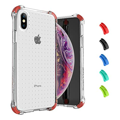Ballistic Diamonds Clear Thin Slim Soft TPU iPhone Xs/X Case, Crystal Clear Anti-Yellow Cover [4 Reinforced Corners] Shockproof Bumper Protective Case for iPhone Xs/X 5.8'' (Crystal Clear)