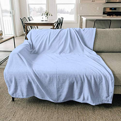 Fleece Blanket Periwinkle Blue Solid Color Throw Blanket Cozy Couch Bed Soft and Warm Plush Blanket Microfiber Lightweight Blanket 60x78.7inch