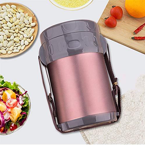 Sterrenhemel Vacuüm thermoskan, roestvrij staal geïsoleerd vat reizen geïsoleerde lunchbox, vacuüm voedsel kan 2L, 3 laag grote capaciteit lunchbox