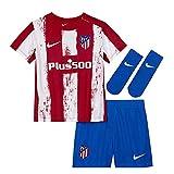Nike - Atlético de Madrid Temporada 2021/22 Equipación Completa Primera Equipación Equipación de Juego, 44080, Unisex
