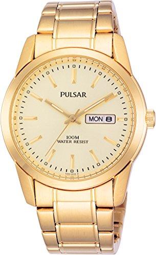 Pulsar Quarz Herren-Uhr Edelstahl mit Metallband PJ6024X1