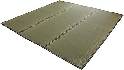 イケヒコ い草 ラグ 松 六一間6畳 約277×368cm 日本製 上敷き カーペット 双目織 ヒバ加工 #1113366