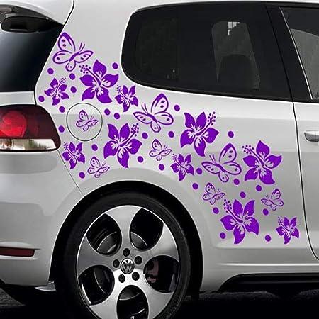 A110 14 Teiliger Butterfly Autoaufkleber Bogen 60cm X 30cm Weiss Erh In 49 Farben Auto