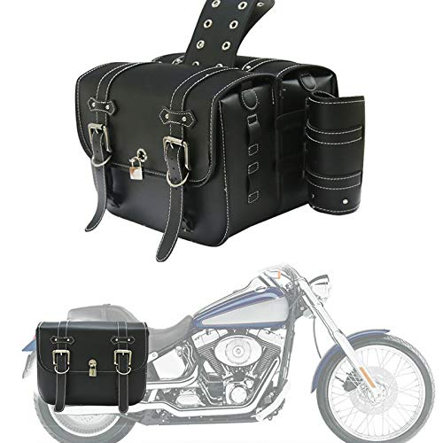 HAIHAOYF 1 Pareja Universal Motorcycle Saddlebags, Bolsa de Equipaje de Almacenamiento Lateral para Bolsa de Herramientas (Color Name : Small Capacity A)