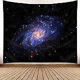 Brandless Luna Colgante de Tela Sol y Luna Adivinación Cielo Estrellado Bosque Tapiz Espacial Colgante de Pared para Dormitorio Sala de Estar (150x130cm)